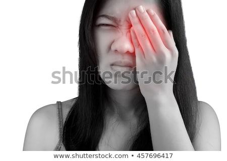 Mulher infectado olho médico Foto stock © AndreyPopov