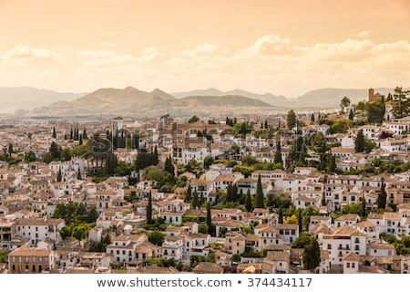 view of Granada city, Spain Stock photo © borisb17