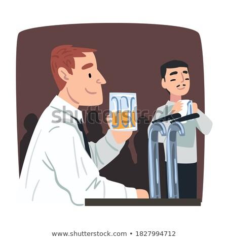 Illustratie vector jonge zakenman magneet Stockfoto © benzoix