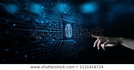 Mesterséges intelligencia ikonok technológia infografika kör tárgyak Stock fotó © Anna_leni