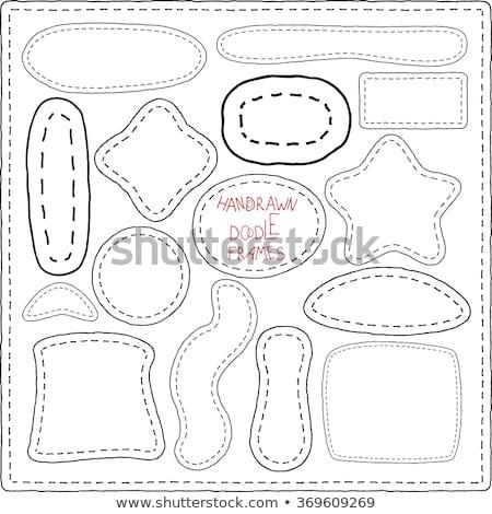 Stars stitched frame illustration Stock photo © barsrsind