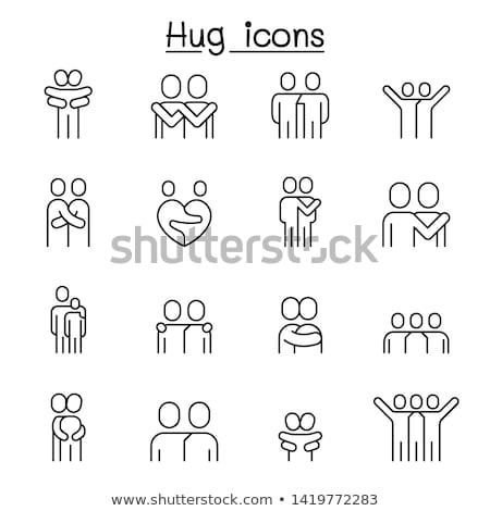 Diversity concept line design style icons set Stock photo © Decorwithme