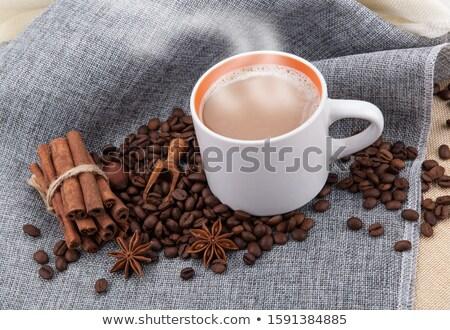 Copo leite café pano Foto stock © mizar_21984