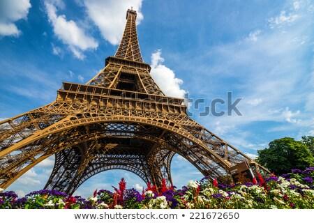 Eiffel gira amarillo mujer mano Foto stock © Lopolo
