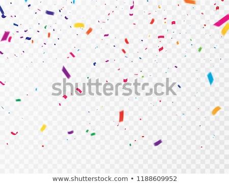 ünnepi színes papír golyók kék üdvözlőlap Stock fotó © Melnyk