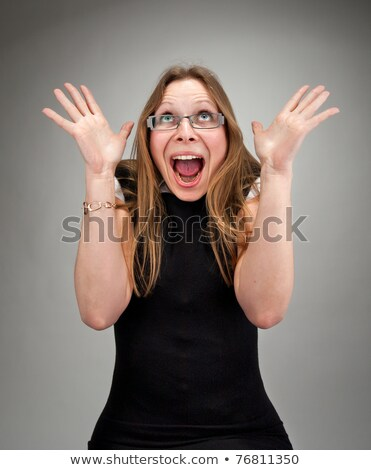 Insano risonho mulher de negócios retrato negócio Foto stock © nomadsoul1