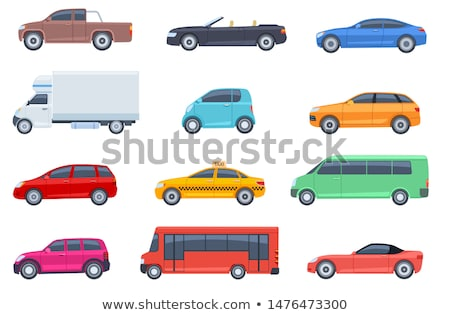 Cars Isolated on White, Minivan and Hatchback Stock photo © robuart