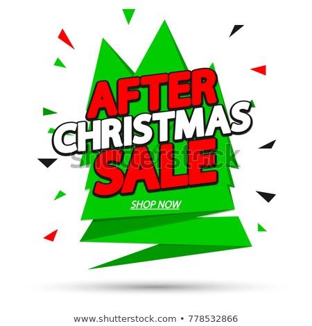 Finale christmas verkoop vakantie winkel nu Stockfoto © robuart