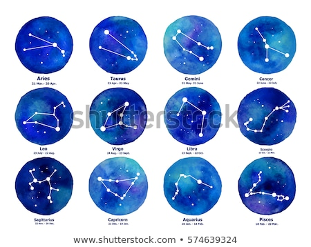 Zodiac constellations - set of twelve astrological signs Stock photo © Decorwithme