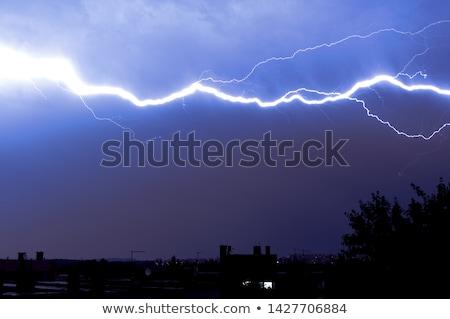 Stock photo: Lightning in the night sky