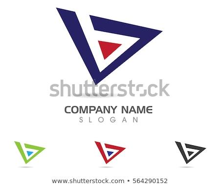 Levél mértani háromszög logoterv üzlet arculat Stock fotó © kyryloff