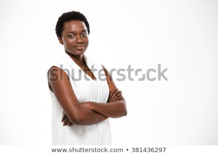 confident african american woman with crossed arms Stock photo © dolgachov