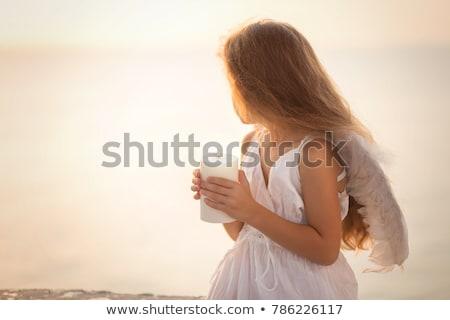 Engel kaars christmas valentijnsdag karakter halo Stockfoto © robuart