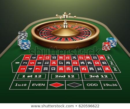 Glücksspiel Symbol Tabelle Roulette Objekt Vektor Stock foto © robuart