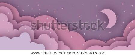 light color clouds background in papercut style Stock photo © SArts