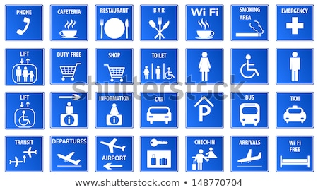 Airport transfer icon, taxi service from airport terminal, airpo Stock photo © gomixer
