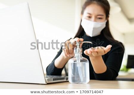 Coronavirus. Chinese coronavirus outbreak. Stop coronavirus. Coronavirus wuhan sars illness. Antibac Stock photo © kyryloff