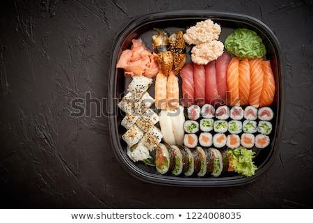 Sushi prato conjunto comida japonesa catering Foto stock © dash