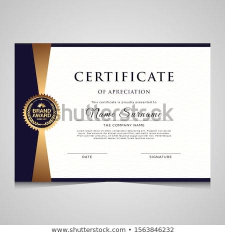 Schone eenvoudige certificaat waardering sjabloon ontwerp Stockfoto © SArts
