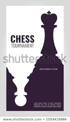 шахматам игры Creative реклама плакат вектора Сток-фото © pikepicture