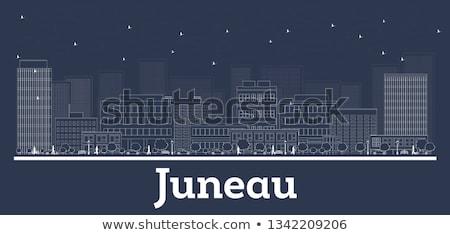 Alaska horizonte azul edificios Foto stock © ShustrikS