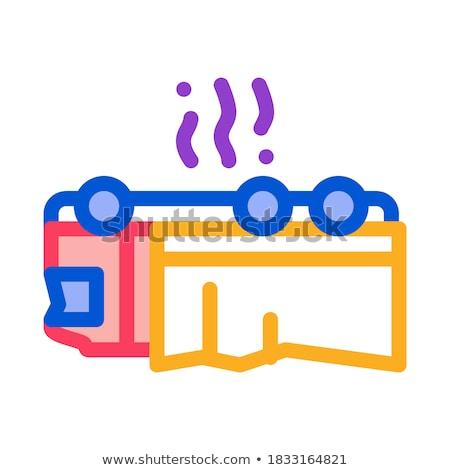 Autó ikon vektor skicc illusztráció felirat Stock fotó © pikepicture