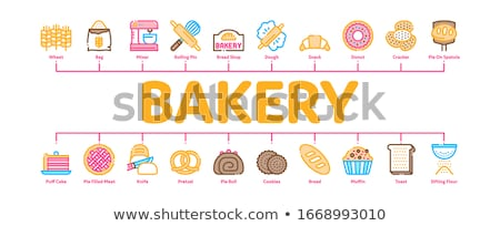 Panadería sabroso alimentos mínimo infografía banner Foto stock © pikepicture