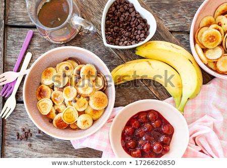 Pancake cereal, mini pancakes Stock photo © BarbaraNeveu