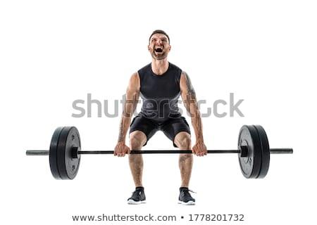 Vücut geliştirmeci ağır ağırlık egzersiz geri spor Stok fotoğraf © Jasminko