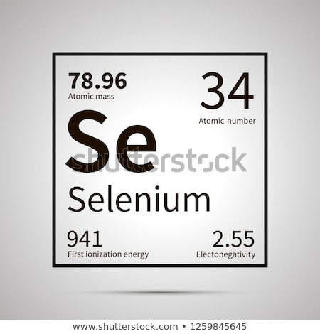 Selenium chemical element with first ionization energy, atomic mass and electronegativity values ,si Stock photo © evgeny89