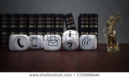 Contact details recht firma 3d illustration tijd Stockfoto © limbi007