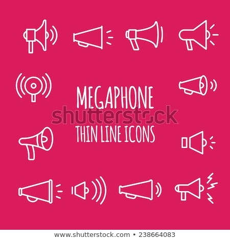 advertisement announcement icon vector outline illustration Stock photo © pikepicture