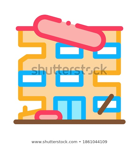 Toronyház helyreállítás ikon vektor skicc illusztráció Stock fotó © pikepicture