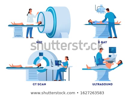 Radiology and MRI or CT Hospital and Clinic Set Stock photo © robuart