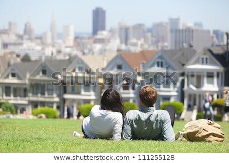 San Francisco toeristische attractie vierkante geschilderd dames beroemd Stockfoto © Maridav