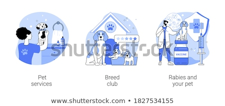 Breed club abstract concept vector illustration. Stock photo © RAStudio