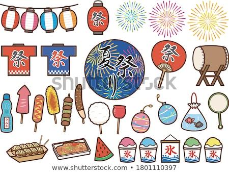 日本語 提灯 寺 紙 旅行 ランプ ストックフォト © tito