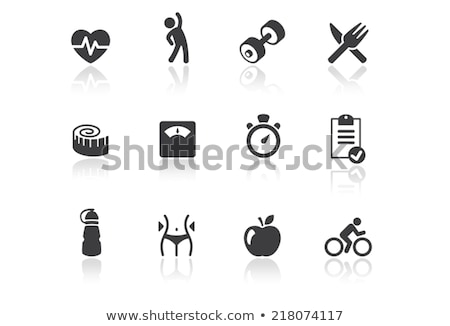 Chronomètre mètre à ruban haltères objets sport Photo stock © Winner
