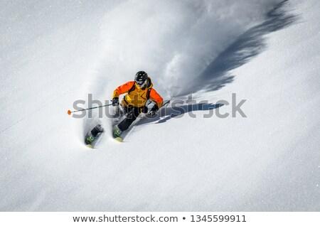 Downhill Skiier Stock photo © SimpleFoto