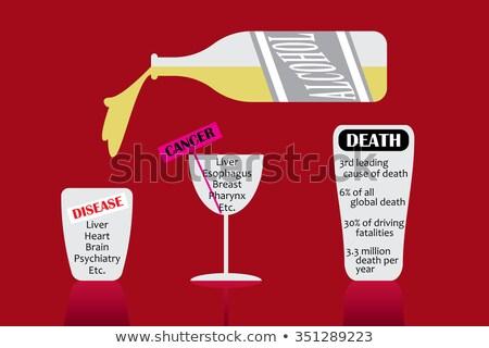 Iszik vezetés halál üveg kabát kulcsok Stock fotó © morrbyte
