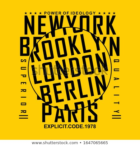 illustration of london newyork paris Stock photo © get4net