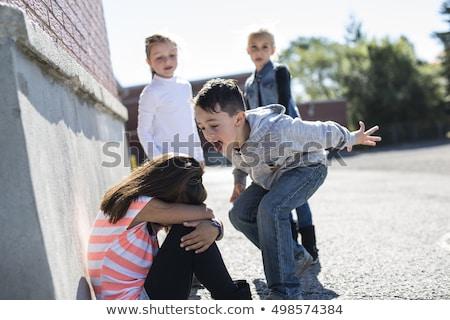 iskola · megfélemlítés · szomorú · magányos · gyermek · gyerekek - stock fotó © godfer