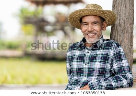 肖像 · 幸せ · 古い · アジア · 男 · 笑みを浮かべて - ストックフォト © smithore