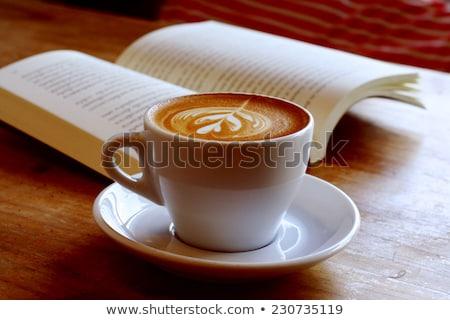 кофе · книга · чашку · кофе · белый - Сток-фото © devon