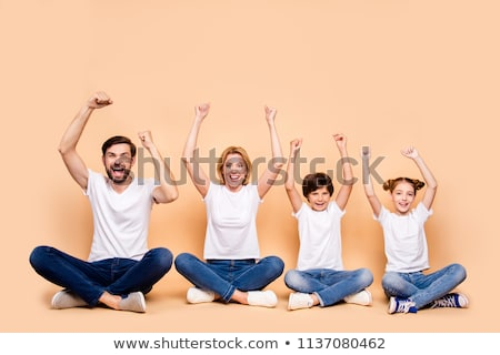 Mother and little son in t-shirts smiling Stock photo © pekour