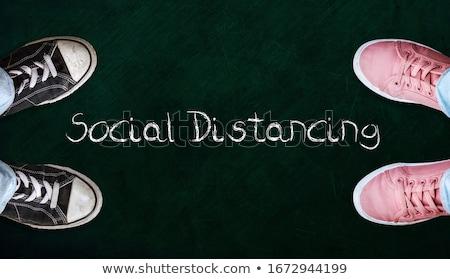 Sosyal kelime gibi un ahşap arka plan Stok fotoğraf © silent47