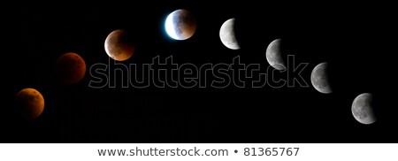Luna eclipse cielo espacio rock Foto stock © suerob
