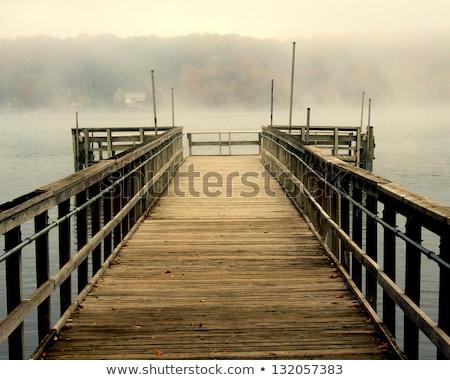 misty · lac · scénique · vue · matin · nature - photo stock © benkrut