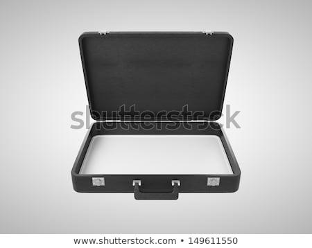 Stockfoto: Zakenman · Open · aktetas · computer · hand · mannen