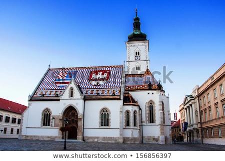 святой Церкви крыши плиточные мозаика Сток-фото © Suljo